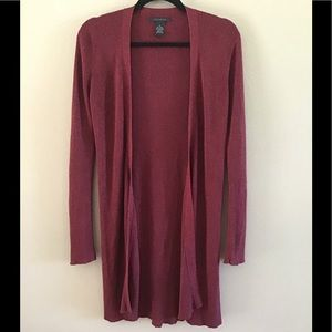 The Limited Burgundy & Shimmer Long Cardigan
